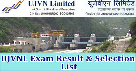 UJVNL Exam Result & Selection List