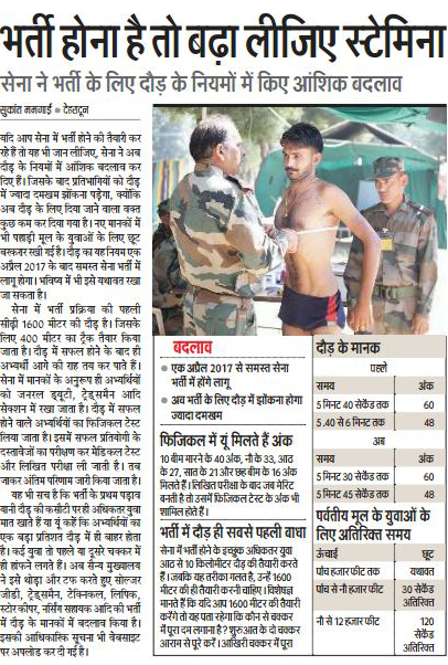 Army Recruitment Rules has been changed now