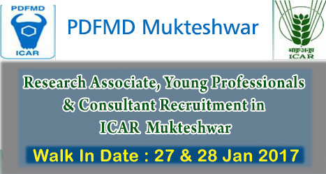 Research Associate, Young Professionals & Consultant Recruitment in ICAR Mukteshwar
