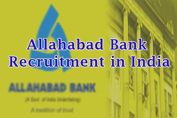 Allahabad Bank Jobs in India