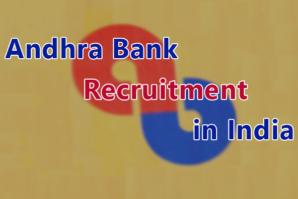 Andhra Bank Recruitment in India