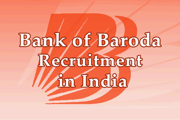 Bank of Baroda Jobs in India