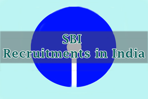SBI Recruitments in India