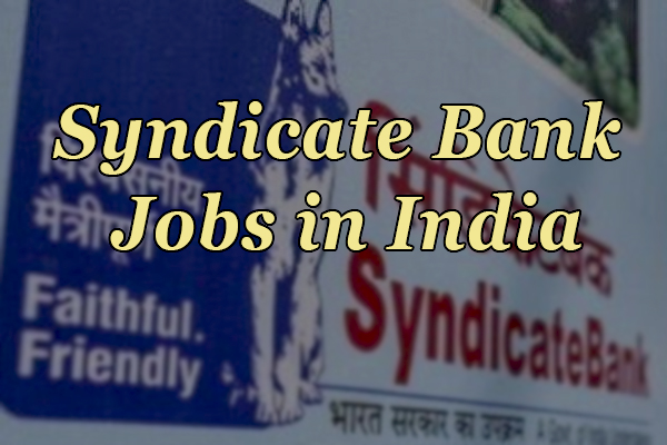 Syndicate Bank Jobs in India
