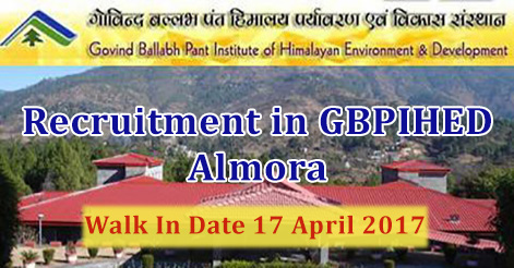 JRF Programme Officer Assistant & Translator Recruitment in GBPIHED Almora