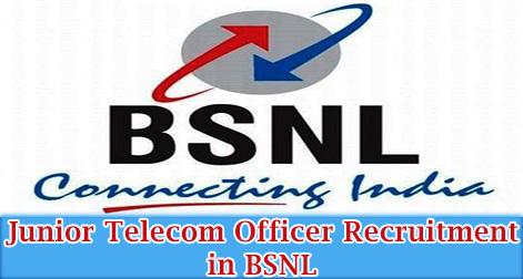 Junior Telecom Officer (JTO) Recruitment in BSNL