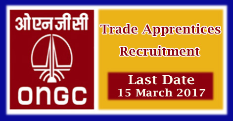 Trade Apprentices Recruitment in ongc