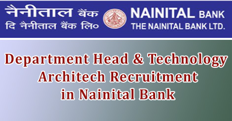 Department Head & Technology Architech Recruitment in Nainital Bank