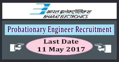 Probationary Engineer Recruitment in BEL