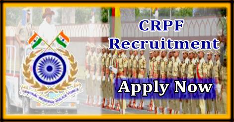SI, ASI & Constable Recruitment in CRPF