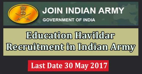 Education Havildar Recruitment in Indian Army