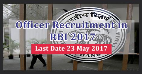 Officer Recruitment in RBI 2017