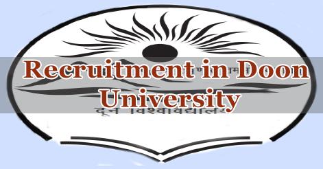 Professor, Assistant Professor & Associate Professor Recruitment in Doon University