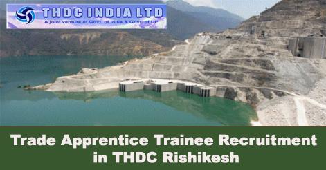 Trade Apprentice Trainee Recruitment in THDC Rishikesh