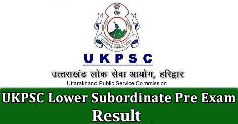 UKPSC Lower Subordinate Exam Result