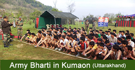 Army Bharti Rally in Kumaon - Army Recruitment Rally from 21