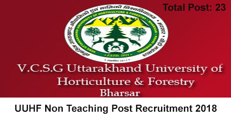 23 Non Teaching Vacancy in UUHF