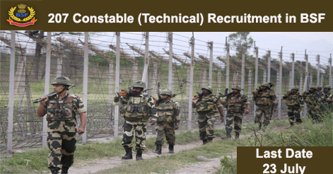 207 Constable (Technical) Recruitment in BSF