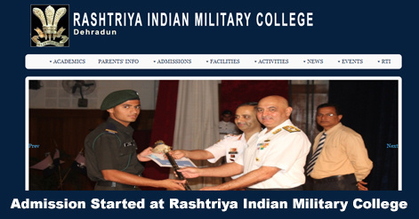 Admission Process Starts at Rashtriya Indian Military College