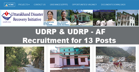 Recruitment in UDRP for 13 Vacancies