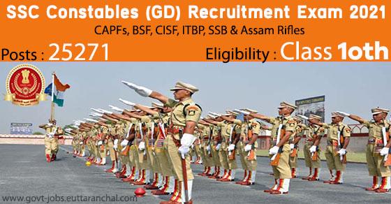SSC Constable (GD) Recruitment Exam
