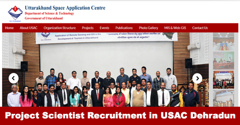 Walk-in for Project Scientist post in USAC Dehradun