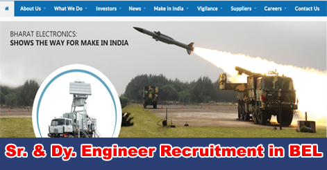 Senior Engineer & Deputy Engineer Recruitment in BEL