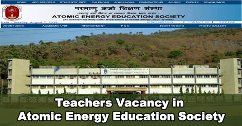 Teachers Vacancy in Atomic Energy Education Society