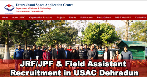 Walk-in for Junior Research Fellow & Field Assistant post in USAC Dehradun