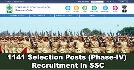 1141 Selections Posts Recruitment in SSC