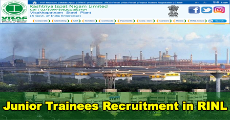 664 Junior Trainees Recruitment in RINL