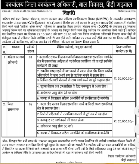 DPO Pauri Recruitment