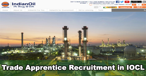 Trade Apprentice Recruitment in IOCL