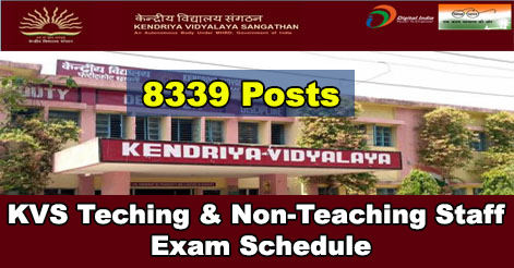 KVS Teaching & Non-Teaching Staff Exam Schedule