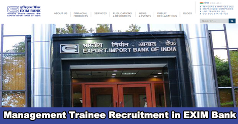 Management Trainee Recruitment in EXIM Bank