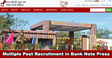 Multiple Post Recruitment in Bank Note Press