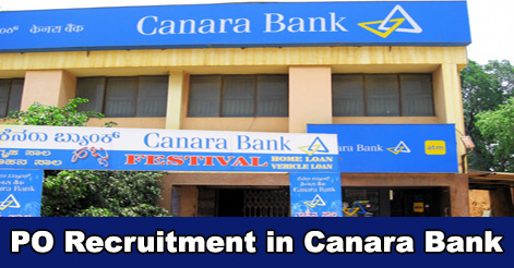 PO Recruitment in Canara Bank