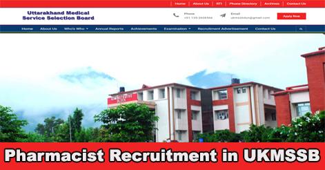 Pharmacist Recruitment in UKMSSB