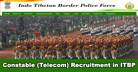 Constable (Telecom) Recruitment in ITBP