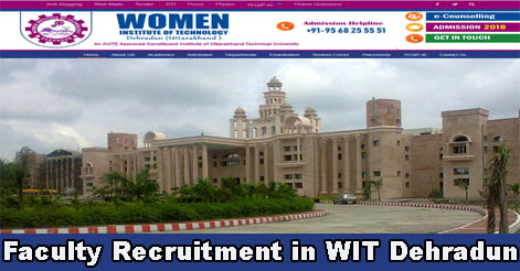 Faculty & Librarian Recruitment in WIT Dehradun