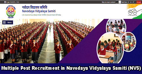 Multiple Post Recruitment in Navodaya Vidyalaya Samiti