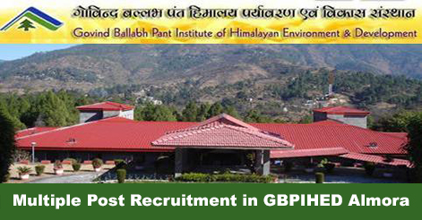 Scientist Fellow, JPF & Field Assistant Recruitment in GBPIHED Almora
