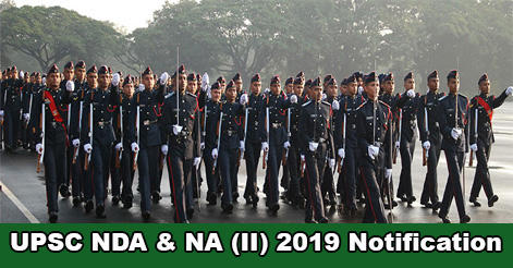 UPSC NDA & NA (II) 2019 Notification