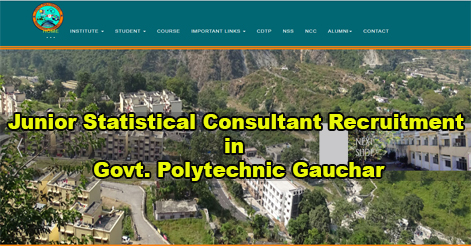 Consultant Recruitment in Govt. Polytechnic Gauchar Chamoli