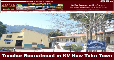 Multiple Post Recruitment in KV New Tehri Town (Tehri)