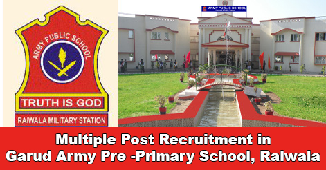 Teaching & Non-Teaching Staff Recruitment in Garud Army Pre-Primary School, Raiwala Dehradun