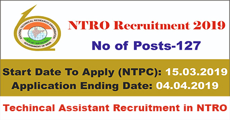Technical Assistant Recruitment in NTRO