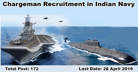 Chargeman Recruitment in Indian Navy