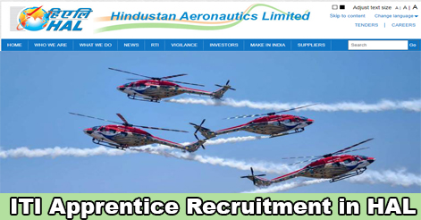 Trade Apprentice Recruitment in HAL