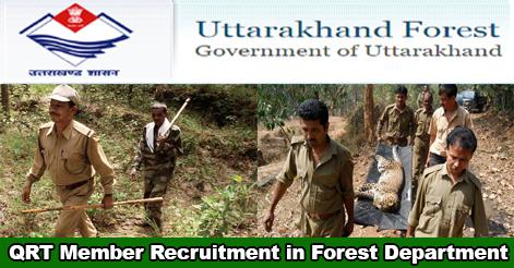 QRT Member Recruitment in Uttarakhand Forest Department